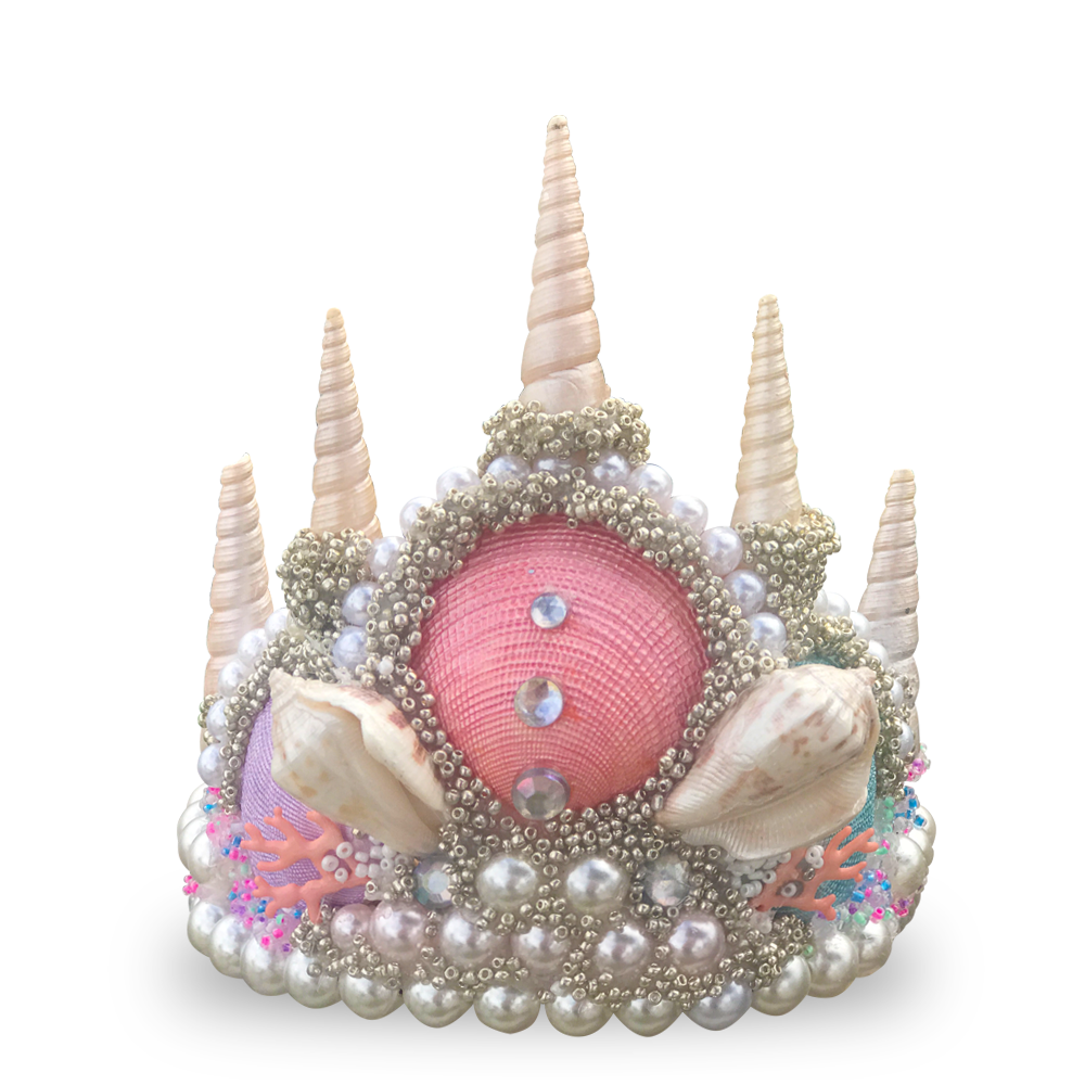 3 Scoops Princess Seashell Crown