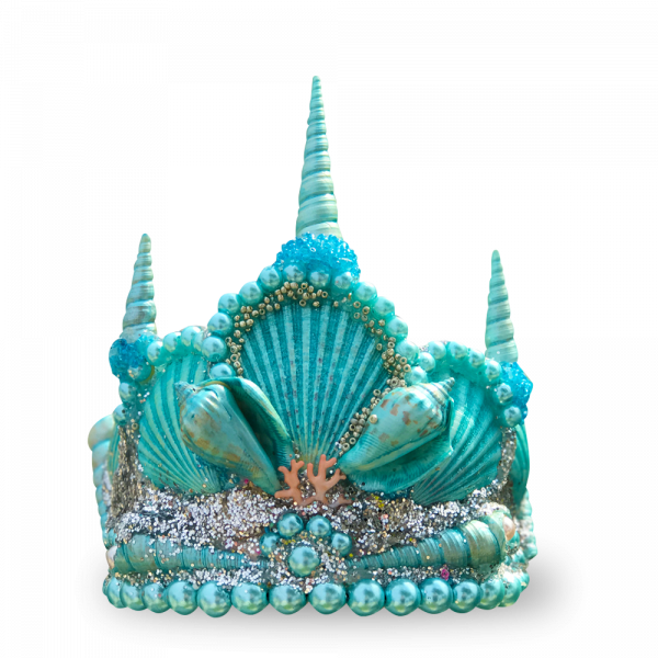 Blue Princess Seashell Crown