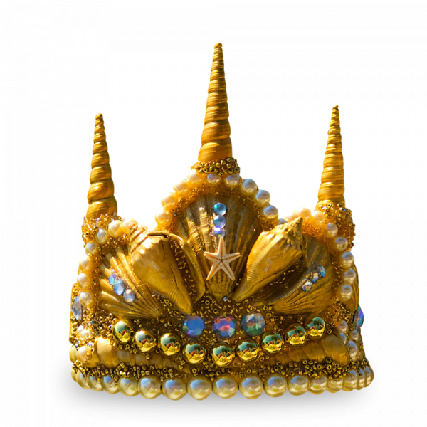 Gold Princess Seashell Crown