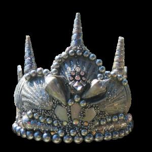 Silver Princess Seashell Crown