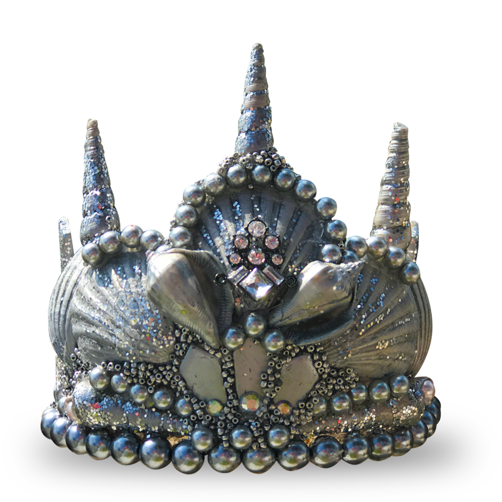 Silver Princess Seashell Crown